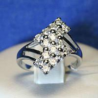 Серебряное кольцо с цирконами для женщин 4825-р