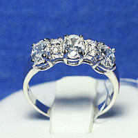 Красивое серебряное кольцо с большими камнями Роксана 4826-р