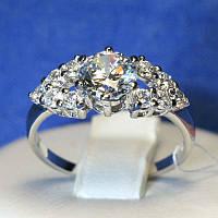 Красивое серебряное кольцо с крупным камнем Тала 4980-р