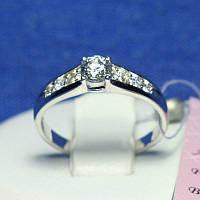 Маленькое серебряное кольцо с цирконием Амрита 10063-р