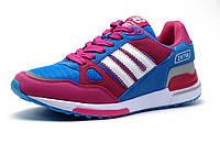 Кроссовки женские, розовые, бело-голубые вставки, р. 37 38 39, фото 1