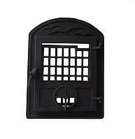 Чугунная печная дверца-VVK (черная, бронза, полированная) -  35 х 46 см/27х33см