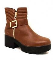 Супермодные молодежные ботинки на платформе