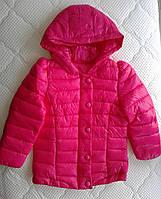 РАСПРОДАЖА! Демисезонная куртка для девочки 3-4 года. Малиновая
