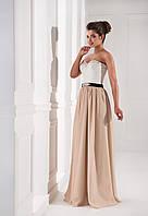 Кукольное вечернее платье комбинирование двумя цветами, с сердцеобразным вырезом горловины и красивой б