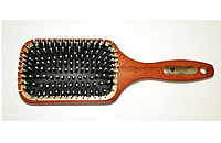 Массажная щетка Salon Professional 76100CLG деревянная с комбинированной щетиной, прямоугольная большая