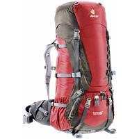 Рюкзак туристичний Deuter Aircontact 60+10 SL cranberry-stone (33452 5444) для пішого та гірського т