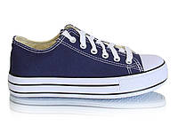 Женские синие кеды на высокой подошве на шнурках