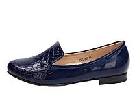 Туфли лаковые детские для девочек синие