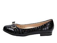 Туфли детские лакированные для девочек черные