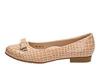 Туфли детские лаковые для девочек бежевые