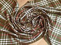 Хлопковый шарф зеленый 177х70 см