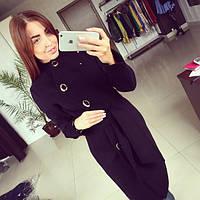 Женское модное демисезонное кашемировое пальто Волна разных цветов АБ 0312