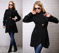 Женское демисезонное кашемировое пальто с оригинальным запахом различные цвета АБ 0323