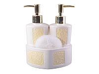 Набор для ванной комнаты и кухни керамический 3 предмета Марта 437-017