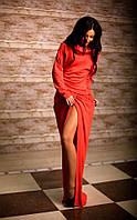 Красивое женское повседневное платье в пол рукав летучая мышь
