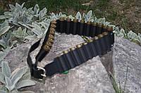 Ремень- патронташ кожаный на 27 патр12 калибр