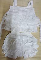 Красивый летний костюм с юбка-шортами и туникой на 1-2 года