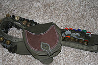 Патронташ бандольера кожа на  30 патронов 12 калибр