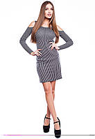 Платье облегающее в полоску Лотос