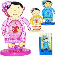 Часы настольные Детские с маятником Девочка кварц. пластик