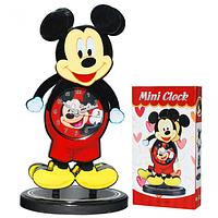 Часы настольные Детские с маятником Микки Маус кварц. пластик