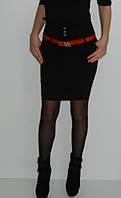Юбка черная узкая с высокой талией Jinhong 6106  размер 36 38 40