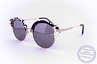 Эксклюзивные солнцезащитные зеркальные очки Клабмастер - Черно-белые - 1809