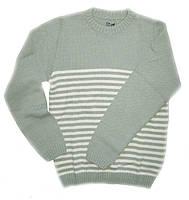 Детский свитер для мальчика с шерстяной ниткой