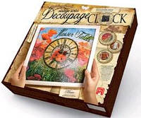 Часики - Decoupage Clock ДКС-01-04 Маки (з рамкою) ДТ(1/10) Ч