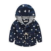 Легкая куртка для мальчика с капюшоном