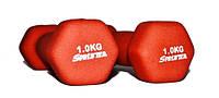 Гантели для фитнеса неопрен 1 кг.