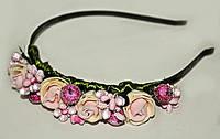 Обруч украшение для волос Красивые цветы