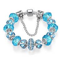 Женский браслет Crystal №2 голубой