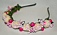 Модный ободок с красивыми цветами