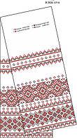 Рушник свадебный простой ЮМА СР 19, схема для бисера с орнаментом