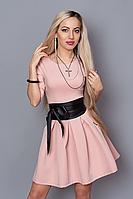 Нарядное платье с поясом и карманами. Размеры 42,44,46