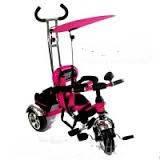 Детский трехколесный РОЗОВЫЙ велосипед BT-CT-0012 с ручкой Combi Trike