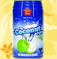 Кокосовый сок, с кусочками желе, CHEF'S CHOICE, 320мл, Gf