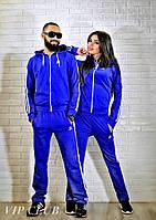 Синий мужской спортивный костюм Адидас