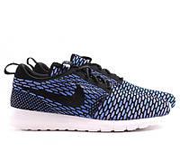 Мужские кроссовки Nike Roshe Run Flyknit Blue/Black
