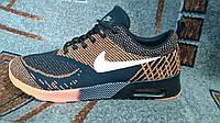 Мужские повседневные кроссовки NIKE AIR MAX Thea коричневые с черным