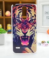 Чехол для LG G3 Stylus/D690 панель накладка с рисунком тигр