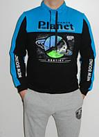 Спортивная толстовка мужская без капюшона Planet Pl323 три цвета размер M, L, XL, XXL Турция