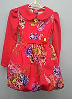 Плаття Ромашка (червоні квіти)