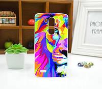 Чехол для LG G3/D855 панель накладка с рисунком картина лев