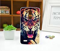 Чехол для LG G3/D855 панель накладка с рисунком тигр
