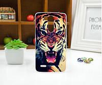 Чехол для LG G3s/D724/G3 mini панель накладка с рисунком тигр