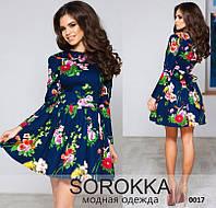 Платье женское в цветочек, фото 1