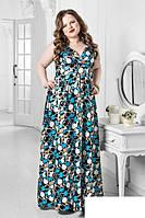 Длинное атласное платье Размеры: 50-52,54-56,58-60